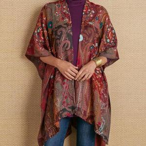 Soft Surroundings Paisley Wool Shawl Wrap